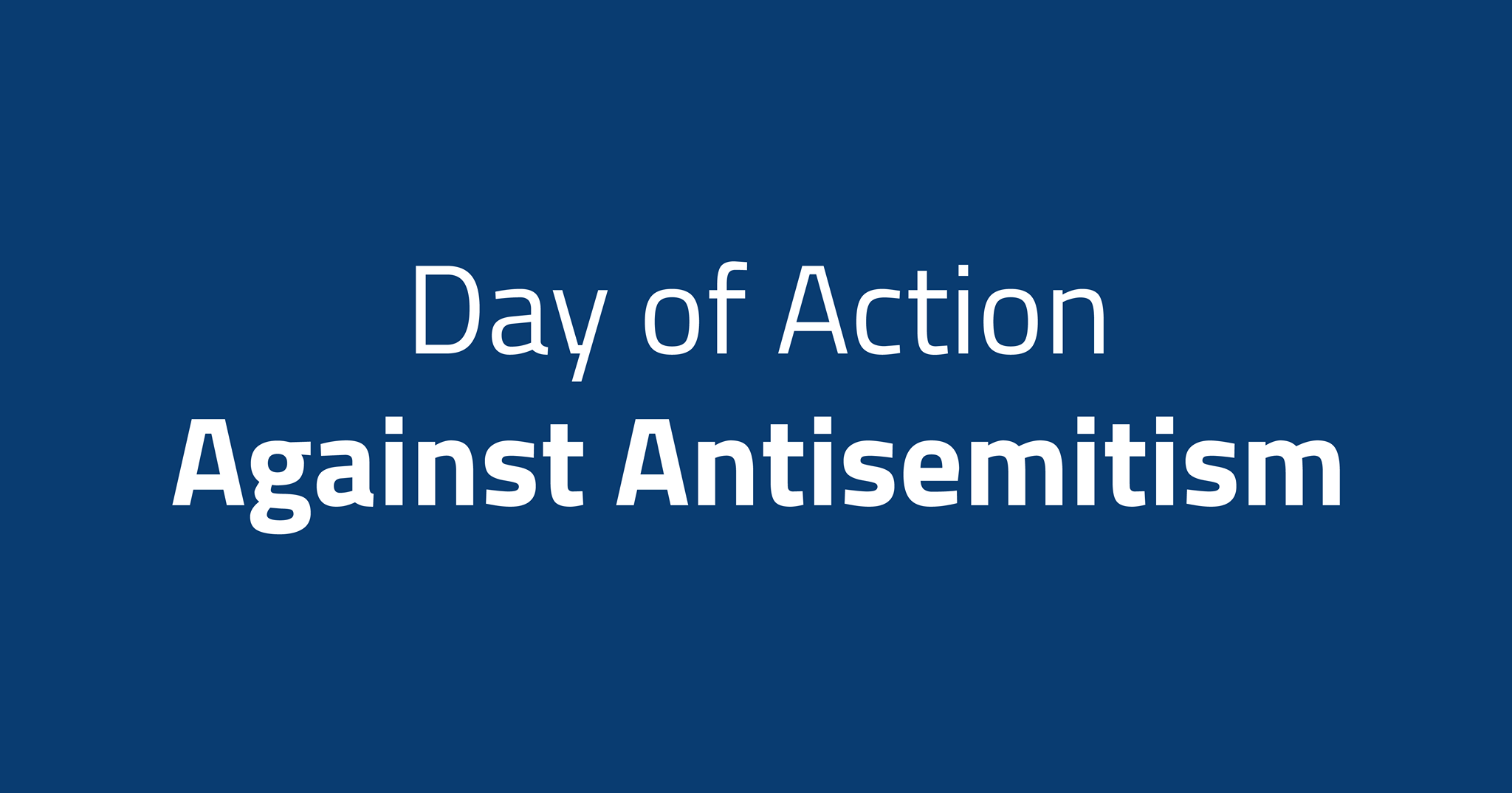 Day of Action against Antisemitism – May 27, 2021